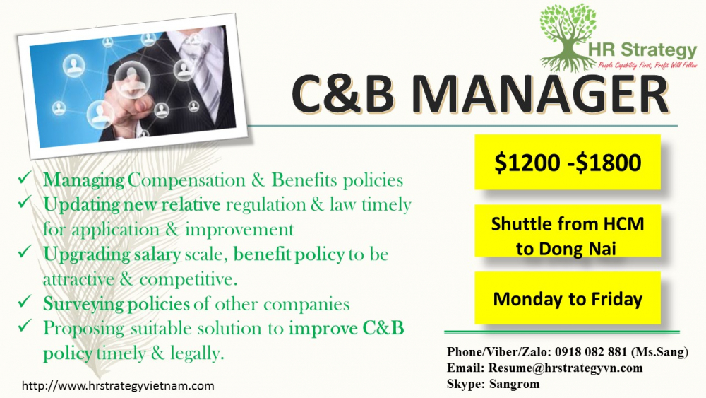 Big Jobs - HRStrategy Training, C B Manager   Anphabe