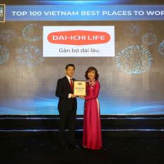 DAI-ICHI LIFE Việt Nam được vinh danh trong TOP 2 Nơi Làm Việc Tốt Nhất Ngành BẢO HIỂM