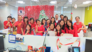 HR Team celebrating Christmas 2014