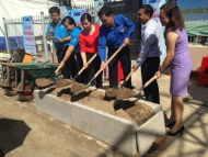 Ground breaking ceremony for Clean water program