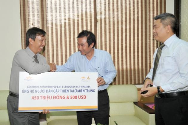 Fund for the victims in the disaster in the central of Vietnam