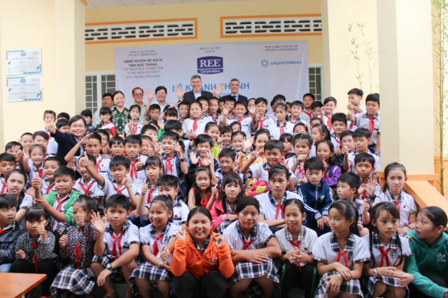 Opening Xuan Hoa Elementary School for students at Soc Trang Province